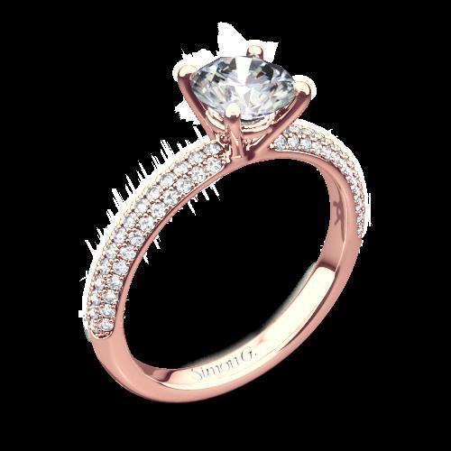 Simon G. LP1935-D Delicate Diamond Engagement Ring