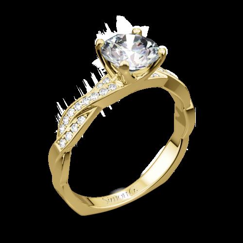 Simon G. MR1498-D Delicate Diamond Engagement Ring