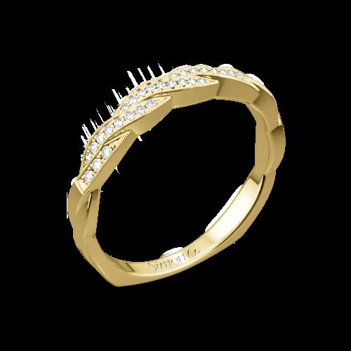 Simon G. MR1498-D Delicate Diamond Wedding Ring