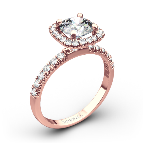 Simon G. MR2132 Passion Halo Diamond Engagement Ring