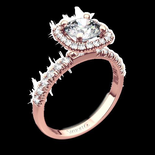 Simon G. MR2132 Passion Halo Diamond Engagement Ring