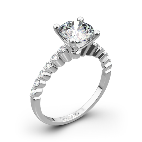 Simon G. MR2173-D Delicate Diamond Engagement Ring