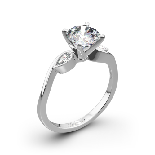 Simon G. MR2342 Dutchess Three Stone Engagement Ring