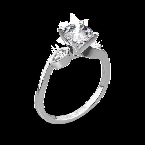 Simon G. MR2342 Dutchess Three Stone Engagement Ring