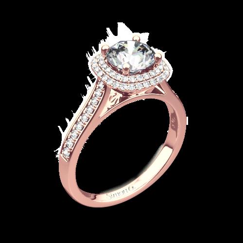 Simon G. MR2395 Passion Halo Diamond Engagement Ring