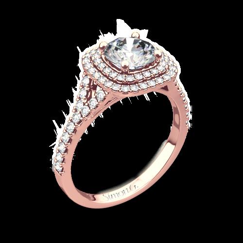 Simon G. MR2459 Passion Halo Diamond Engagement Ring