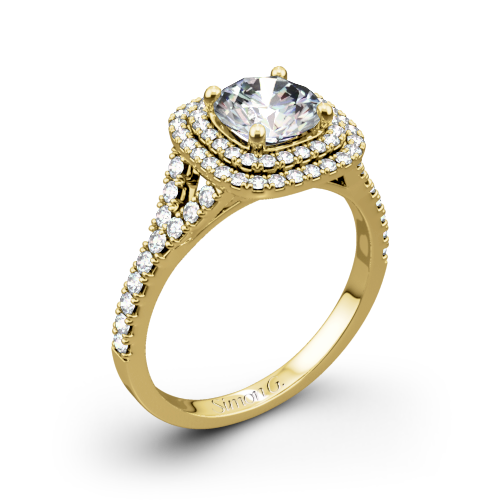 Simon G. MR2459 Passion Halo Diamond Engagement Ring