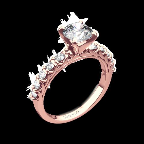 Simon G. MR2492 Caviar Diamond Engagement Ring