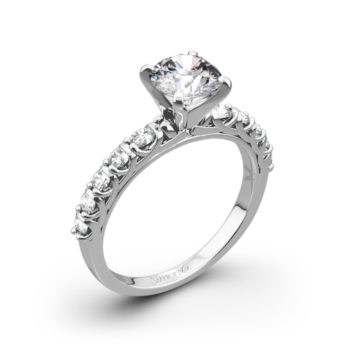 Simon G. MR2492 Caviar Diamond Engagement Ring