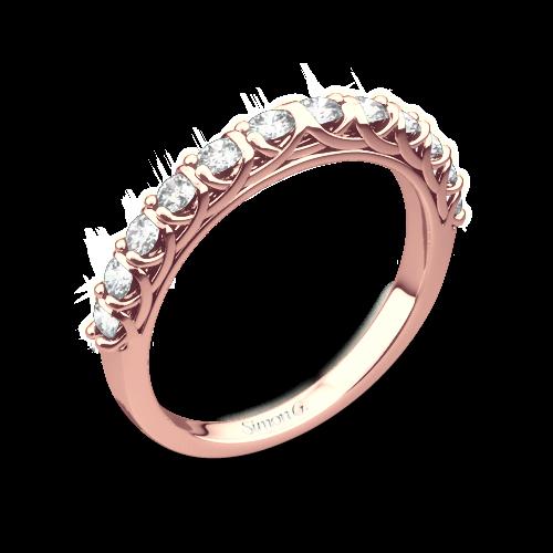 Simon G. MR2492 Caviar Diamond Wedding Ring