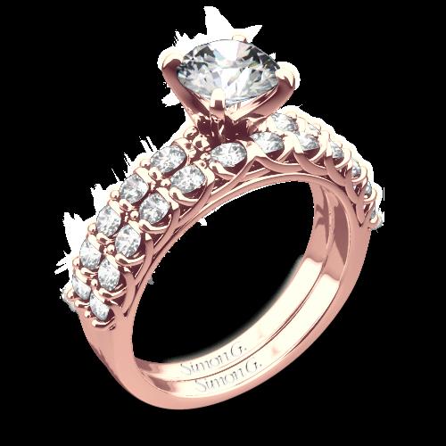 Simon G. MR2492 Caviar Diamond Wedding Set