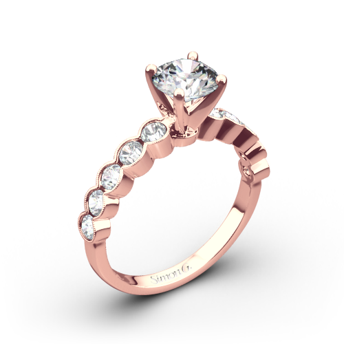 Simon G. MR2566 Caviar Diamond Engagement Ring