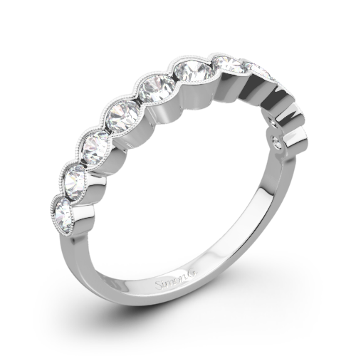 Simon G. MR2566 Caviar Diamond Wedding Ring