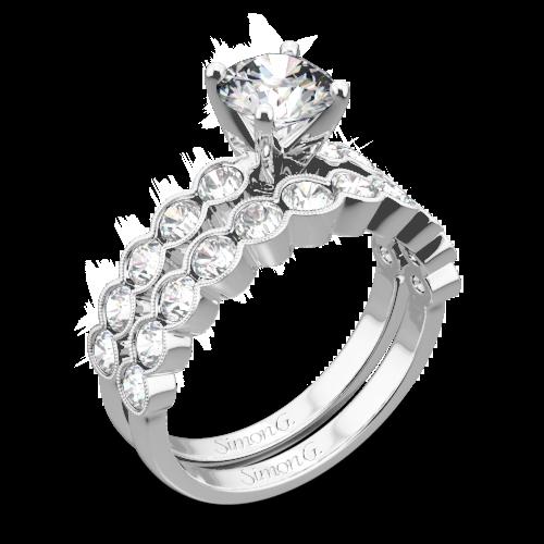 Simon G. MR2566 Caviar Diamond Wedding Set