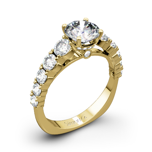 Simon G. TR426 Caviar Diamond Engagement Ring