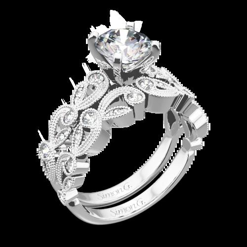 Simon G. TR473 Duchess Diamond Wedding Set