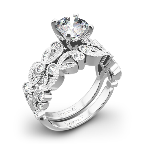 Simon G. TR473 Duchess Diamond Wedding Set