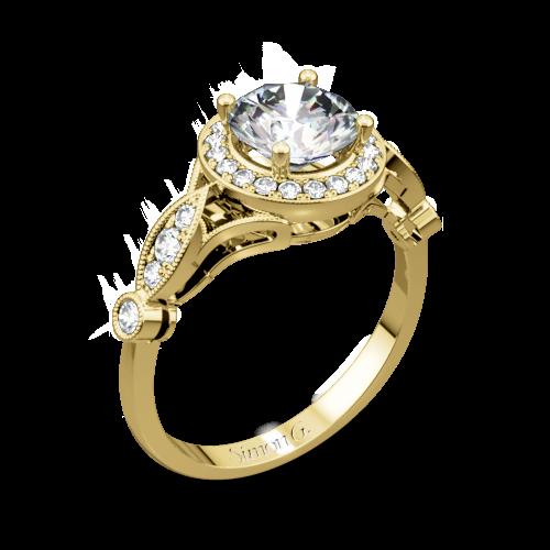 Simon G. TR523 Passion Halo Diamond Engagement Ring