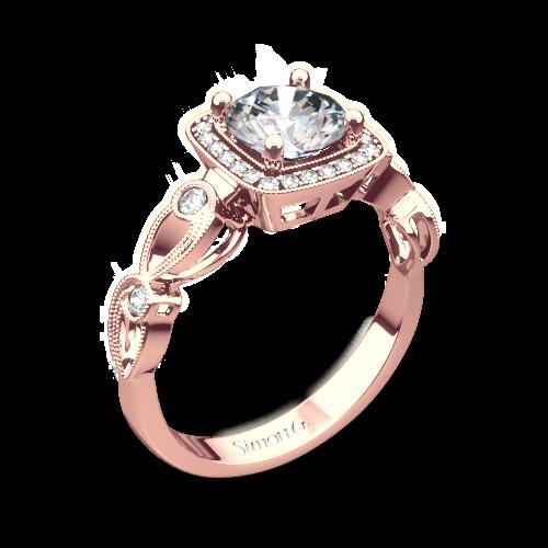 Simon G. TR526 Passion Halo Diamond Engagement Ring