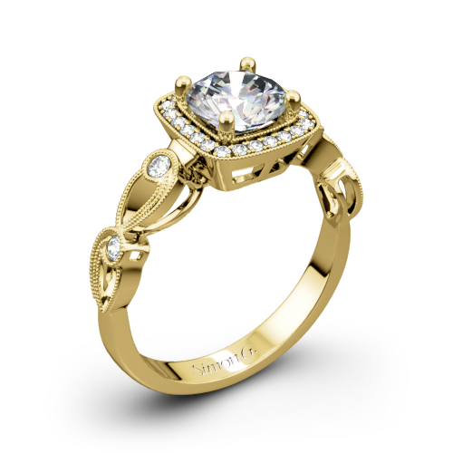 Simon G. TR526 Passion Halo Diamond Engagement Ring