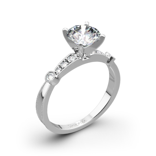 Simon G. MR1546-D Delicate Diamond Engagement Ring