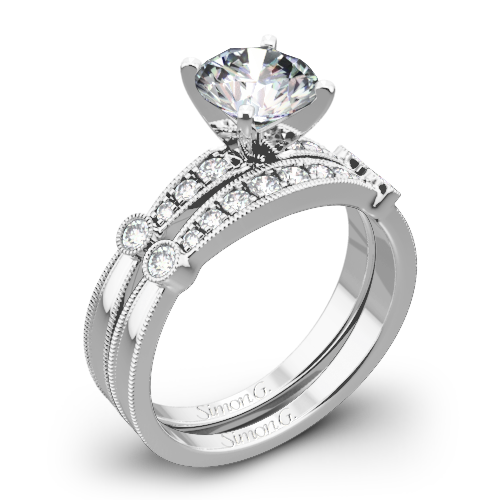 Simon G. MR1546-D Delicate Diamond Wedding Set