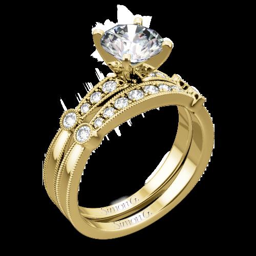 Simon G. MR1546-D Delicate Diamond Wedding Set