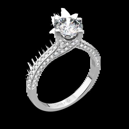 Simon G. MR1609 Caviar Diamond Engagement Ring