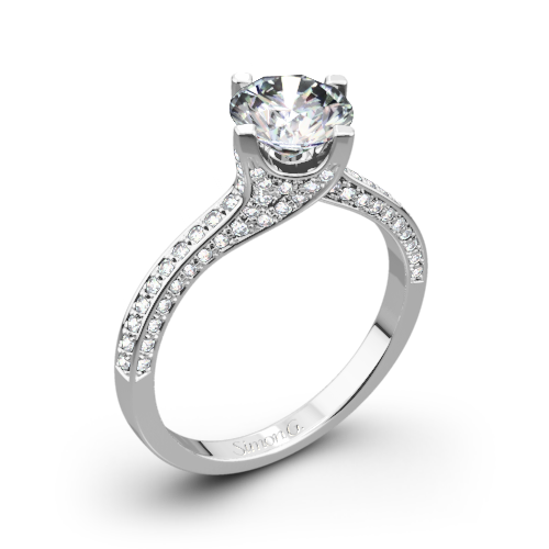 Simon G. MR1609 Caviar Diamond Engagement Ring