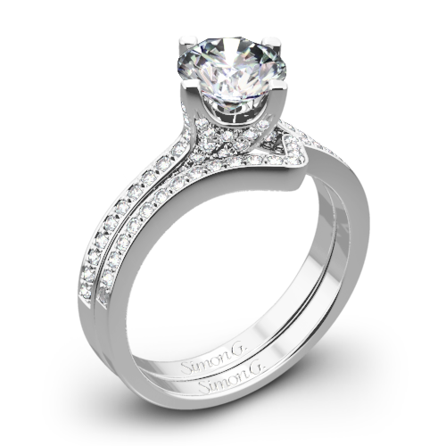 Simon G. MR1609 Caviar Diamond Wedding Set