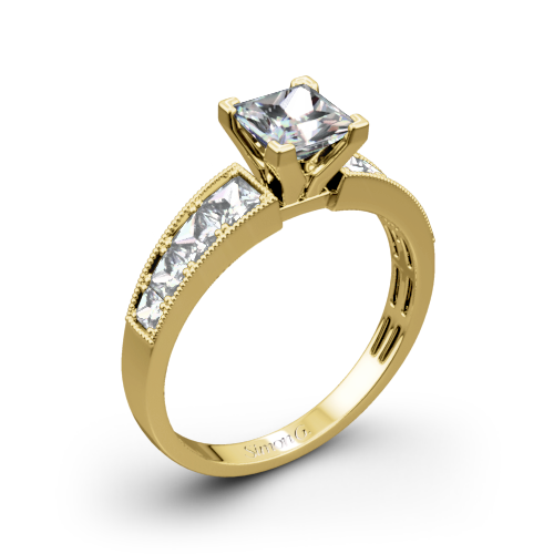 Simon G. MR1825-S Caviar Diamond Engagement Ring for Princess