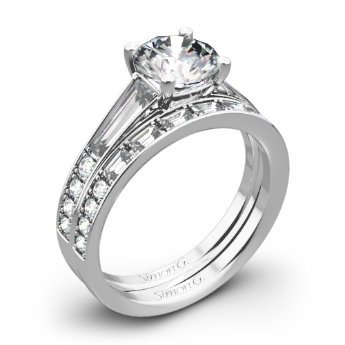 Simon G. MR2220 Duchess Diamond Wedding Set