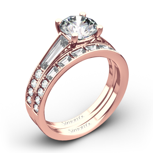 Simon G. MR2220 Duchess Diamond Wedding Set