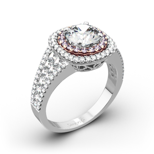 Simon G. MR2453 Passion Double Halo Diamond Engagement Ring