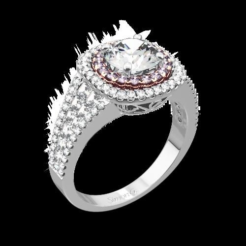 Simon G. MR2453 Passion Double Halo Diamond Engagement Ring