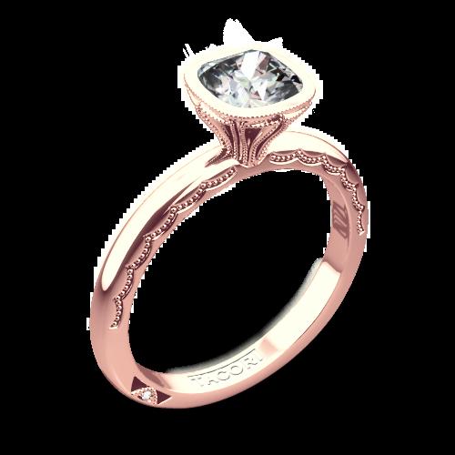 Tacori 300-2CU Starlit Petite Cushion Solitaire Engagement Ring