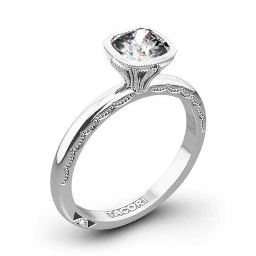 Tacori 300-2CU Starlit Petite Cushion Solitaire Engagement Ring