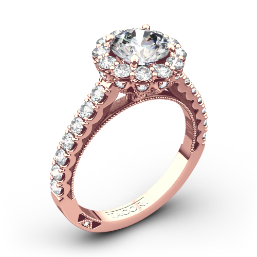 Tacori 37-2RD Full Bloom Round Halo Diamond Engagement Ring