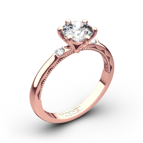 Tacori 56-2RD Sculpted Crescent Classic Three Stone Engagement Ring