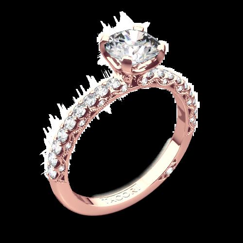 Tacori rose gold wedding rings