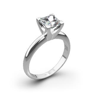 Classic 4 Prong Solitaire Engagement Ring for Princess