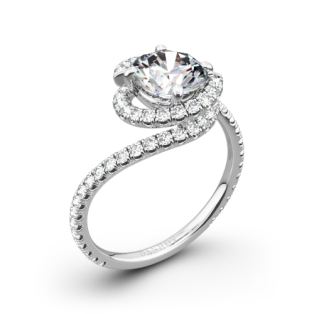 Danhov AE100 Abbraccio Diamond Engagement Ring