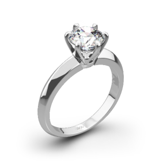 Knife-Edge Solitaire Engagement Ring