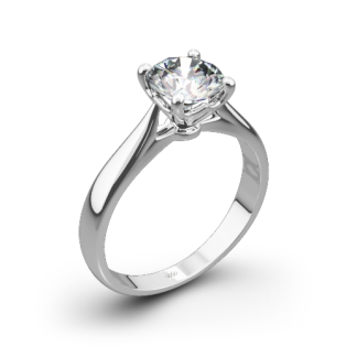 Legato Sleek Line Solitaire Engagement Ring