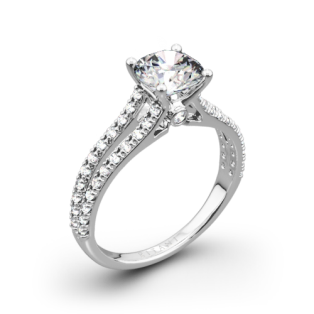 Ritani 1RZ2488 Double French-Set V Diamond Engagement Ring