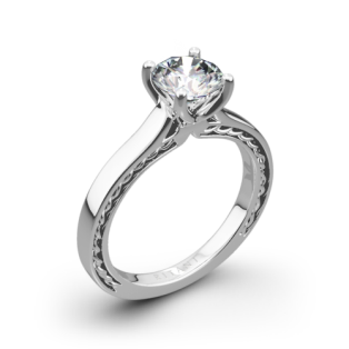 Ritani 1RZ2828 Braided Solitaire Engagement Ring