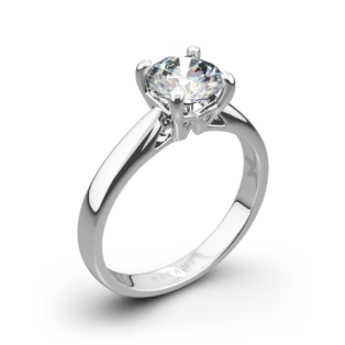 Ritani 1RZ7241 Cathedral Tapered Solitaire Engagement Ring