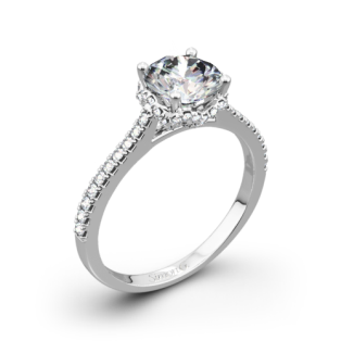 Simon G. MR2478 Caviar Diamond Engagement Ring