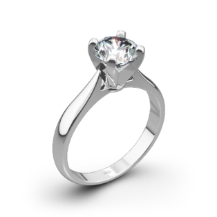 Sleek Line Solitaire Engagement Ring