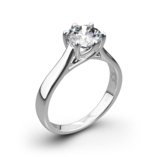 Vatche 119 Royal Crown Solitaire Engagement Ring